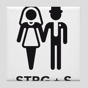 STRG + S (Computer Geek Wedding) Tile Coaster
