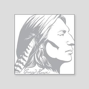 "Crazy Horse Square Sticker 3"" x 3"""
