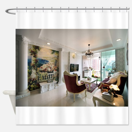 A Petite Palace Shower Curtain