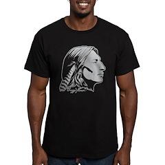 Crazy Horse Men's Fitted T-Shirt (dark)