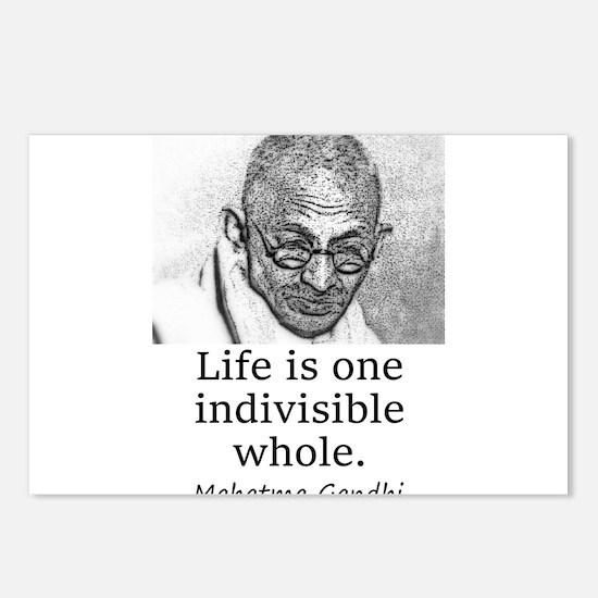 Life Is One Indivisible Whole - Mahatma Gandhi Pos