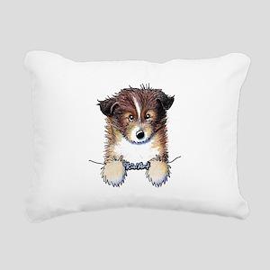 Pocket Sheltie Rectangular Canvas Pillow