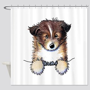 Pocket Sheltie Shower Curtain