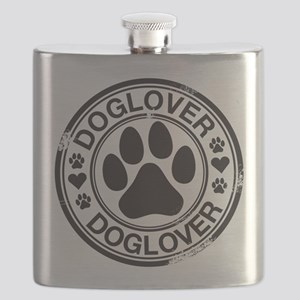 Dog lover with pawprint Flask