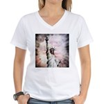 Statue of Liberty Women's V-Neck T-Shirt