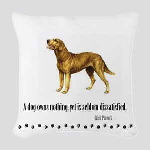 Chesapeake Bay Retriever Quote Woven Throw Pillow