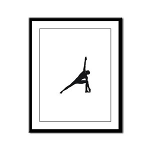 Bikram Yoga Triangle Pose Framed Panel Print