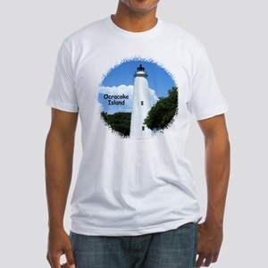 Ocracoke Lighthouse Fitted T-Shirt
