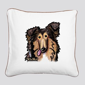 Shetland Sheepdog Square Canvas Pillow