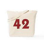 42 (Red) Tote Bag