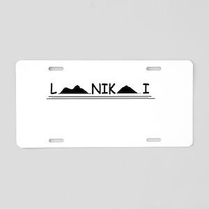 Lanikai Aluminum License Plate