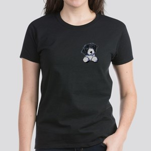 Pocket Bearded Collie Women's Dark T-Shirt
