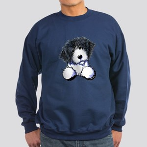 Pocket Bearded Collie Sweatshirt (dark)