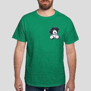 Pocket Bearded Collie Dark T-Shirt