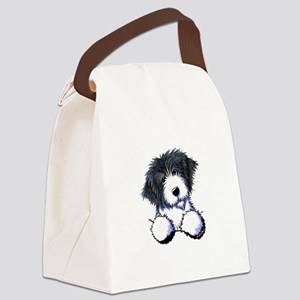 Pocket Bearded Collie Canvas Lunch Bag