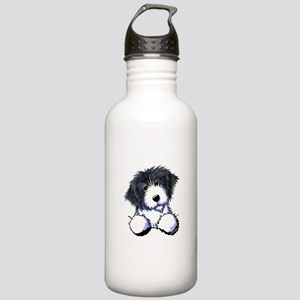 Pocket Bearded Collie Stainless Water Bottle 1.0L