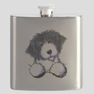 Pocket Bearded Collie Flask