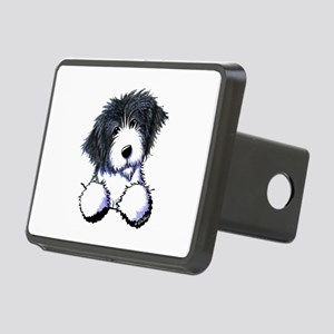 Pocket Bearded Collie Rectangular Hitch Cover