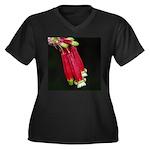 Flaming Firecracker Flowers Women's Plus Size V-Ne