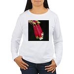Flaming Firecracker Flowers Women's Long Sleeve T-