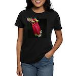 Flaming Firecracker Flowers Women's Dark T-Shirt
