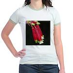 Flaming Firecracker Flowers Jr. Ringer T-Shirt