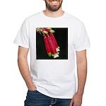 Flaming Firecracker Flowers White T-Shirt