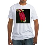 Flaming Firecracker Flowers Fitted T-Shirt