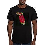 Flaming Firecracker Flowers Men's Fitted T-Shirt (