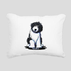 Corgi w/ Flower Rectangular Canvas Pillow