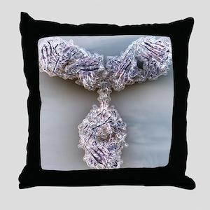 Antibody, molecular model - Throw Pillow