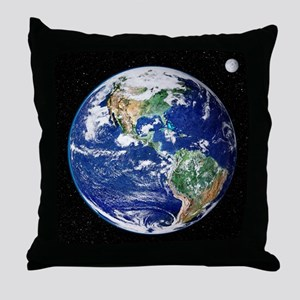 Earth from space, satellite image - Throw Pillow