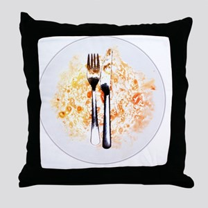 Dirty plate - Throw Pillow