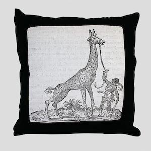 Giraffe, 16th century artwork - Throw Pillow