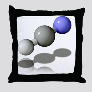 Hydrogen cyanide molecule - Throw Pillow