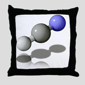 Hydrogen cyanide molecule - Throw Pillow