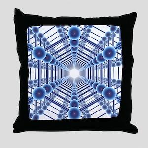 Graphene sheets, artwork - Throw Pillow