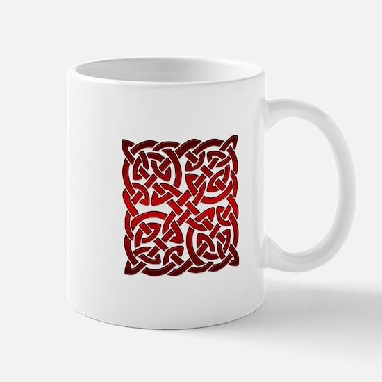 Celtic Knot Maze Red Mug
