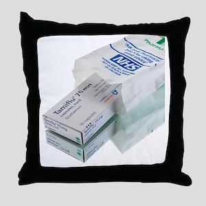 Tamiflu influenza drug - Throw Pillow