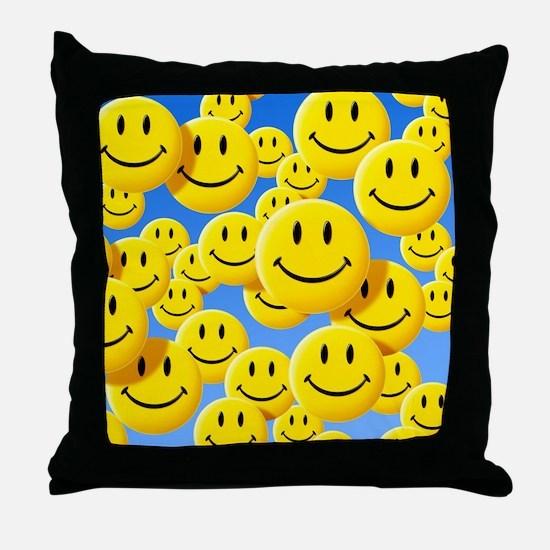 Smiley face symbols - Throw Pillow