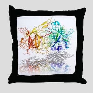 Tetanus toxin C-fragment structure - Throw Pillow