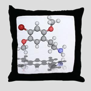 2C-B psychedelic drug, molecular model - Throw Pil
