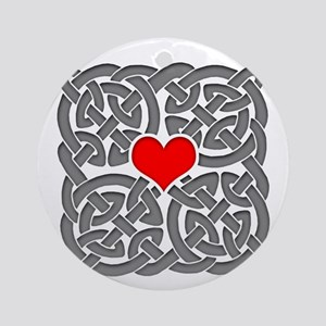 Celtic Knot Heart Ornament (Round)
