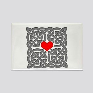 Celtic Knot Heart Rectangle Magnet