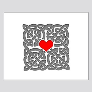 Celtic Knot Heart Small Poster