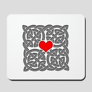 Celtic Knot Heart Mousepad
