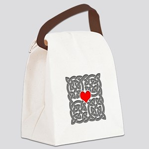 Celtic Knot Heart Canvas Lunch Bag