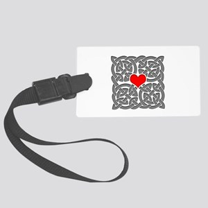 Celtic Knot Heart Large Luggage Tag