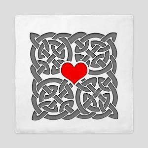 Celtic Knot Heart Queen Duvet