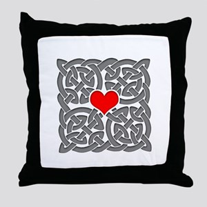 Celtic Knot Heart Throw Pillow